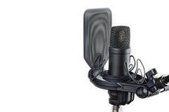 Professional studio microphone. The professional studio microphone on a support Royalty Free Stock Image
