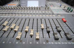 Professional studio mixing console Stock Photography