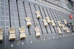 Professional studio mixing console Royalty Free Stock Image