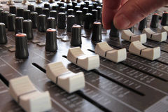 Professional Sound Mixer Royalty Free Stock Photography