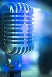 Professional studio recording retro vintage microphone Stock Images