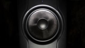 Professional studio subwoofer speaker isolated stock footage