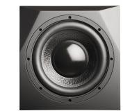 Professional studio subwoofer speaker isolated Stock Photo
