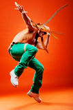 Professional stunt dancer Stock Photos