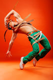 Professional stunt dancer Stock Photography