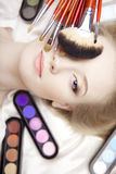 Professional Stylist And Make-up Brushes Royalty Free Stock Photography