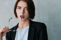 Professional success confident female leader royalty free stock image