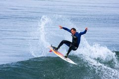 Professional Surfer Mike Golder Surfing California Royalty Free Stock Photography