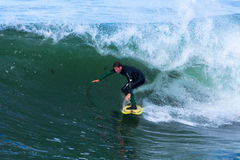 Professional Surfer Shawn Barron Surfing California Royalty Free Stock Image