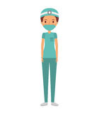 Professional surgeon avatar character. Vector illustration design Stock Images