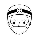 Professional surgeon avatar character. Vector illustration design Stock Photography