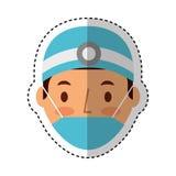 Professional surgeon avatar character. Vector illustration design Royalty Free Stock Photos