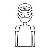 Professional surgeon avatar character. Vector illustration design Stock Image