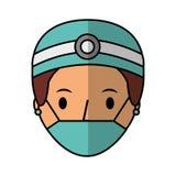 Professional surgeon avatar character. Vector illustration design Royalty Free Stock Photo