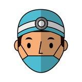 Professional surgeon avatar character. Vector illustration design Stock Photos