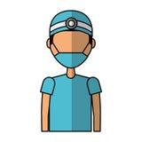 Professional surgeon avatar character. Vector illustration design Stock Photo