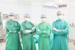 Professional surgeon teams standing in a surgical room Royalty Free Stock Photography