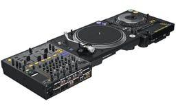 Professional table dj equipment Royalty Free Stock Photos
