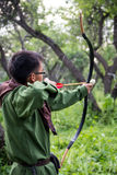 Professional target archery, hunting in the forest Stock Photo