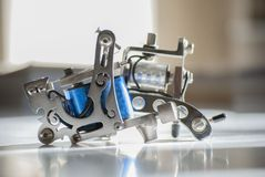 Professional tattoo machines. stock photography