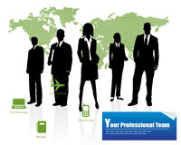 Professional Team. Corporate Business Template Background ( illustration Royalty Free Stock Photos