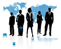 Professional Team. Vector Corporate Business Template Background Stock Image