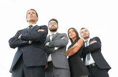 Professional team of business people. Photo with copy space stock image