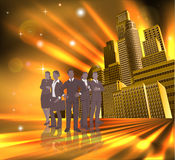 Professional team city illustration Stock Photo