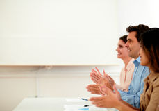 Professional team giving applause during meeting Royalty Free Stock Photo