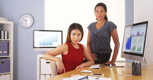 Professional team of happy multi-ethnic businesswomen Stock Image