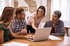 Professional team having a strat meeting Royalty Free Stock Photography