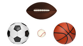 Professional Team Sports Balls Stock Images