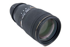 Professional telephoto lens Royalty Free Stock Photography
