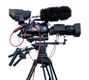Professional television video camera Royalty Free Stock Photography