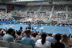 Professional tennis at the 2012 Australian Open Stock Photo