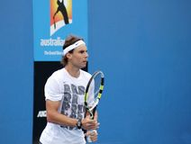 Professional tennis at the 2012 Australian Open Royalty Free Stock Image