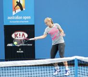 Professional tennis at the 2012 Australian Open Royalty Free Stock Photography