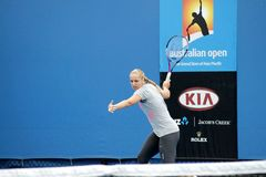 Professional tennis at the 2012 Australian Open Royalty Free Stock Photos
