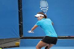 Professional tennis at the 2012 Australian Open Stock Image
