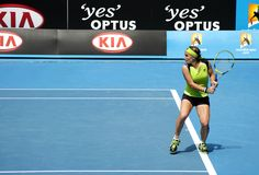 Professional tennis at the 2012 Australian Open Royalty Free Stock Images
