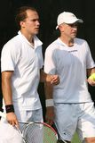 Professional tennis doubles Royalty Free Stock Photos