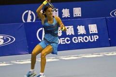 Professional tennis game Stock Image