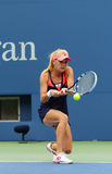 Professional tennis player Agnieszka Radwanska during first round match at US Open 2013 against Silvia Soler-Espinosa Stock Photography