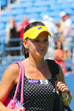 Professional tennis player Agnieszka Radwanska after first round match at US Open 2014 Royalty Free Stock Photo