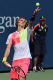 Professional tennis player Alexander Zverev of Germany in action during his second round US Open 2016 match Stock Photography