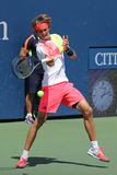 Professional tennis player Alexander Zverev of Germany in action during his second round US Open 2016 match Royalty Free Stock Image