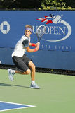 Professional tennis player Alexander Zverev from Germany during qualifying match at US Open 2014 Royalty Free Stock Photo