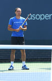 Professional tennis player Alexandr Dolgopolov from Ukraine practices for US Open 2013 Stock Images