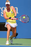 Professional tennis player Alison Riske from USA during US Open 2014 match Stock Photography