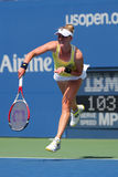 Professional tennis player Alison Riske from USA during US Open 2014 match. NEW YORK - AUGUST 26, 2014: Professional tennis player Alison Riske from USA during Royalty Free Stock Images